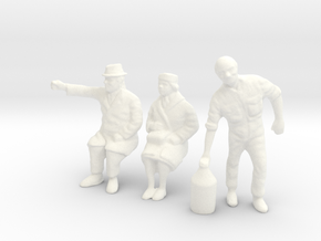 1/35 Diorama Figure Set 01 in White Processed Versatile Plastic