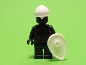 Saxon Shield & Helmet in White Natural Versatile Plastic