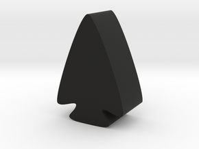 Arrowhead Game Piece in Black Natural Versatile Plastic