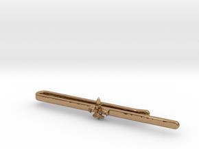 Tie clip_Fleur de lis in Polished Brass