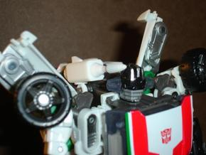 Sunlink - Wheeljacked - Cartoon Shoulder Cannon in White Natural Versatile Plastic