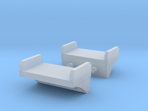 Boiler Steps Firebox Section Front in Smooth Fine Detail Plastic