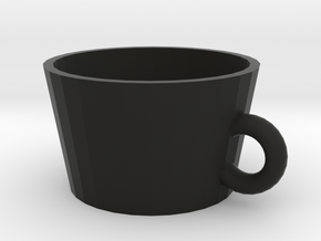 cup in Black Natural Versatile Plastic: Medium