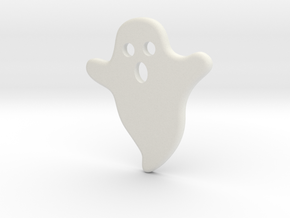 DIY Frebird Fridge Magnet - Midi Ghost (Negative) in White Natural Versatile Plastic