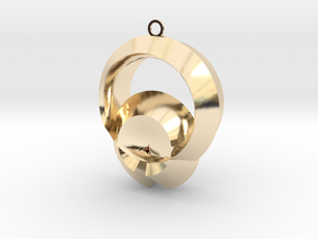 Protection of shell in 14k Gold Plated Brass
