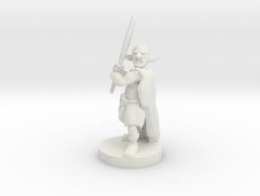 Deep Gnome Axe  Barbarian in White Natural Versatile Plastic