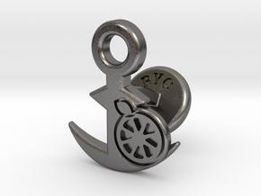 Cufflinks - Kan Kan Mikan! in Polished Nickel Steel
