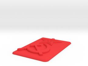 Soviet Shield in Red Processed Versatile Plastic: Medium