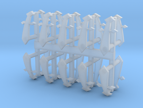 Dark Ángeles Elites Shoulder Pad icons in Smooth Fine Detail Plastic