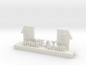 Home Neat Home Logo Figurine in White Natural Versatile Plastic