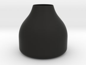 Small Round Stout Vase in Black Natural Versatile Plastic