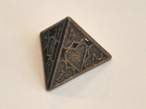 D4 Balanced - Cards in Polished Bronze Steel