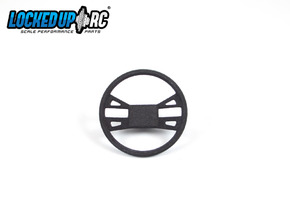 1:10 RC Truck Steering wheel 2 in Black Natural Versatile Plastic
