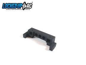 TRX4 Bumper Mount -9.0H 7.0V in Black Natural Versatile Plastic