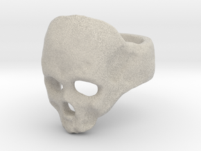 Skull Ring in Natural Sandstone