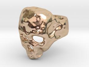 Skull Ring in 14k Rose Gold Plated Brass