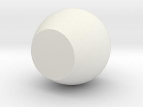 cup in White Natural Versatile Plastic