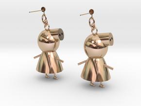 Earring in 14k Rose Gold
