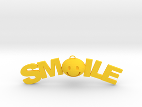 Smile necklace in Yellow Processed Versatile Plastic