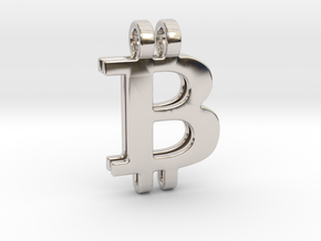 Bitcoin Pendant in Platinum