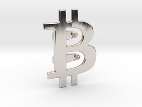 Bitcoin Tie Clip in Platinum