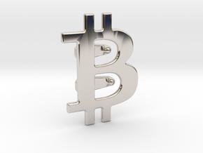 Bitcoin Tie Clip in Platinum