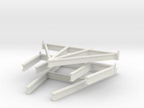 1/20 US PT Class Elco Cradle Spur Parts in White Natural Versatile Plastic