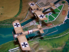 Fokker E.III in White Natural Versatile Plastic: 1:144