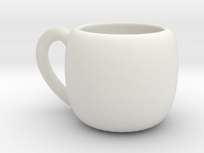 Simple Cup in White Natural Versatile Plastic