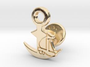 Cufflinks - Full Speed Ahead! Aye Aye! in 14k Gold Plated Brass