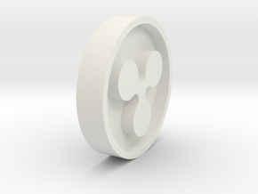 Ripple XRP Coin in White Natural Versatile Plastic: Extra Small