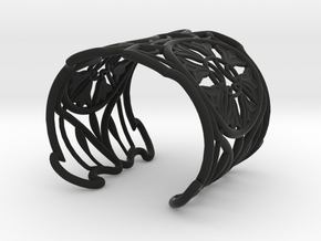 "Bracelet ""Jolie"" in Black Natural Versatile Plastic: Small"