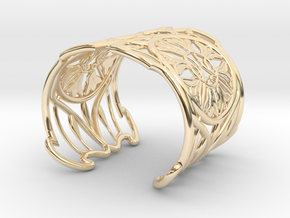 "Bracelet ""Jolie"" in 14k Gold Plated Brass: Small"