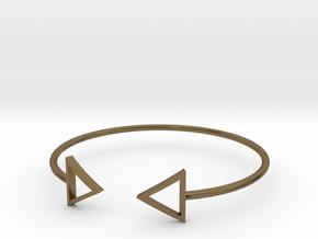 Arrow Around Bracelet S-L in Polished Bronze: Small