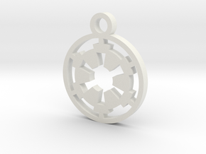 Galactic Empire Charm in White Natural Versatile Plastic