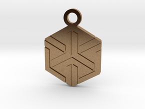 House of Ishida Charm in Natural Brass