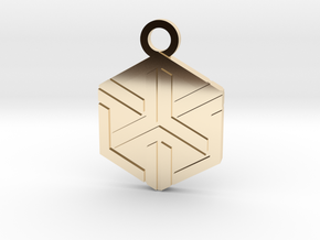 House of Ishida Charm in 14k Gold Plated Brass