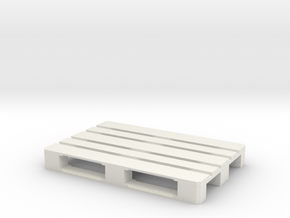 1/14 Scale EUR Pallet in White Natural Versatile Plastic