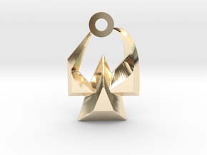 House of Martok Charm in 14k Gold Plated Brass: Small