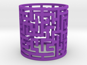Puzzle Tunnel Ring Size 7.5 (Modified) in Purple Processed Versatile Plastic: 7.5 / 55.5