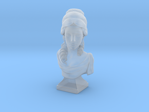 Female bust in Smooth Fine Detail Plastic