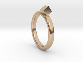 rings with square in 14k Rose Gold