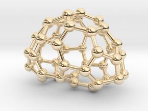 0634 Fullerene c44-5 c2 in 14k Gold Plated Brass