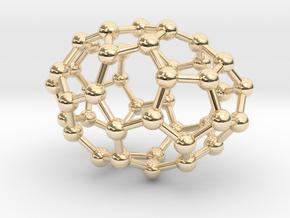 0635 Fullerene c44-6 c2 in 14k Gold Plated Brass
