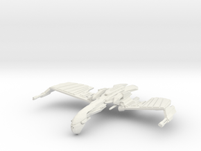 Romulan Verdor Class  WarBird  wings up in White Natural Versatile Plastic