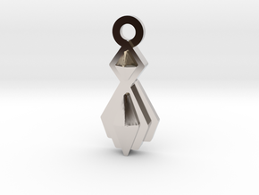 House of Mogh Charm in Rhodium Plated Brass: Small
