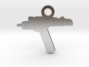 Phaser Silhouette Charm in Natural Silver