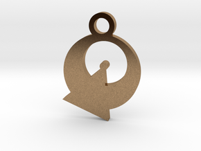 Vulcan Silhouette Charm in Natural Brass
