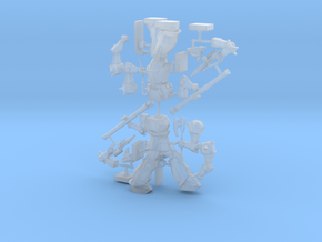 Zaku IIS Commander type, 1:500 scale in Smooth Fine Detail Plastic