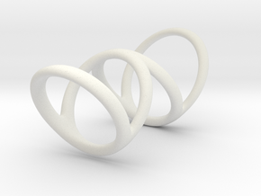 Left ring (camallama) in White Natural Versatile Plastic